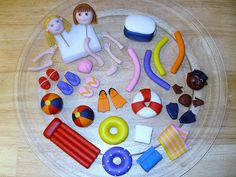 Fondant Accessories for Pool Cake