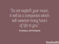 Thomas Jefferson Music Quote - Thomas Jefferson Famous Quotes ...