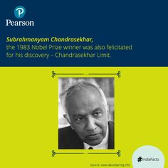 Subrahmanyam Chandrasekhar was one of the greatest #physicists of the 20th century. He was awarded with the 1983 #NobelPrize for #Physics. His prolific contribution in the fields of astrophysics, physics and applied #mathematics, won him the stature of a great scientist and an accomplished teacher.