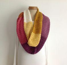 INFINITY SCARF , neckwarmer . Wool blend. Super-soft. ' Setting Sun' . £23.00