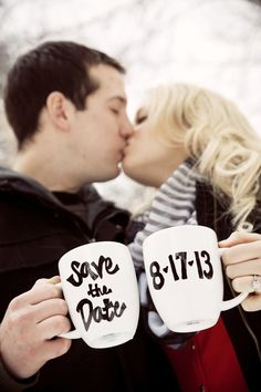 Love this idea! Super easy to do! Photo by Sara C. #WeddingPhotographerMinnesota #Engagement #DIY