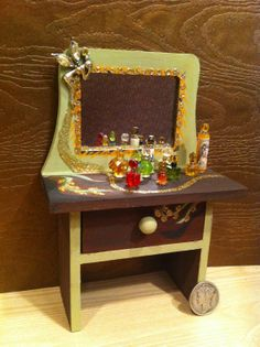 Miniature Vanity Free Shipping by miniaturemondo on Etsy, $21.99