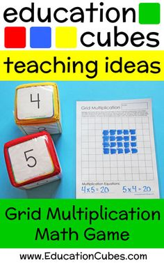 Make learning fun by using Education Cubes, customizable learning blocks for all your educational needs! Check out this array method multiplication game! Math Multiplication Games, Math Games, Middle School English, Number Words, 5th Grade Math, Math Numbers, Literacy Centers, Math Lessons