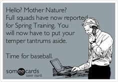 Yes...  Get yourself together.   It's baseball season....