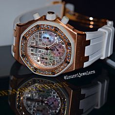 Audemars Piguet Royal Oak Offshore Chronograph 18K Rose Gold With Diamonds ‼️ Contact Loucri Jewelers for these and other Luxury Time pieces. Email sales@loucri.com or call ☎️☎️ 516 960 7757.