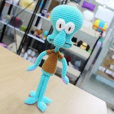 바늘인형_amigurumi (*'-'*)/ on Instagra Crochet Octopus, Crochet Dragon, Crochet Bunny, Love Crochet, Crochet Animals, Crochet Dolls, Knit Crochet, Crochet Hats, Quick Crochet Patterns