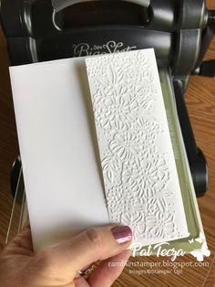 I love how the embossed details add so much to a simple white envelope for handmade cards!  .  #handmade #handmadecards #envelopes #cards #thoughtfulgifts #envelopedesign