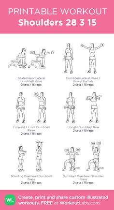 Shoulders 28 3 15: my visual workout created at WorkoutLabs.com • Click through to customize and download as a FREE PDF! #customworkout