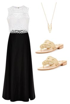 """""""Wear either necklace or sandals! Don't wear both!"""" by sarah78kelly on Polyvore featuring Rosie Assoulin, Ally Fashion, Jack Rogers and Gorjana"""