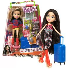 MGA Year 2015 Bratz Study Abroad Series 10 Inch Doll Set - JADE to Russia with 2 Outfits, Matryoshka Doll, Suitcase, Purse, Charm, Hairbrush and Bracelet For You