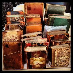 flea market antique books. One time I found an old journal, it had a silk fabric on the cover, I opened it to find nary a word! I couldn't imagine it, so I took it home and promptly filled it with nuggets of time from my own life. Journals are meant to be used and passed on.
