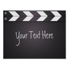 Custom Movie Director Clapboard Your Text Poster