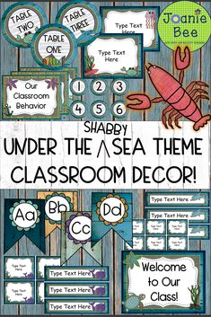 Under the Shabby Sea combines an ocean theme with Shabby Chic decor! A cool NEW look for your Under the Sea classroom! Under the Sea Classroom Themed Décor! Looking for a NEW Ocean Theme? Liven up your classroom with this Beachy Chic Classroom Behavior, Future Classroom, Classroom Themes, Ocean Themed Classroom, Inclusion Classroom, Preschool Themes, Classroom Resources, Kindergarten Classroom, Diy Old Books