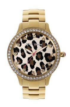 Cheetah Betsey Johnson Watch. Rawr!