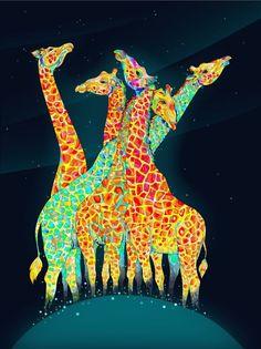 Curious Giraffes by Daria Gołąb
