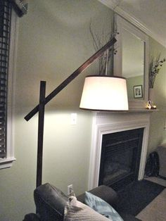 DIY floor lamp for the corner behind the sectional