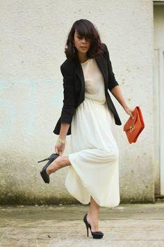 Maxi Dress With Blazer Photo Album - Reikian
