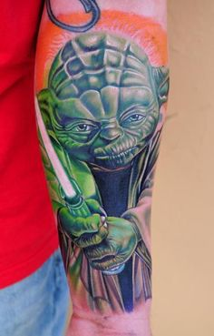 Tattoo by Nikko Hurtado --Nikko does Star Wars. Boy Tattoos, Life Tattoos, Body Art Tattoos, Small Tattoos, Tatoos, Crazy Tattoos, Portrait Tattoos, Nikko Hurtado, Tribal Arm