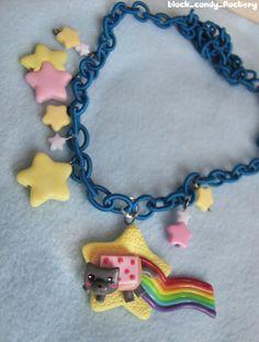 Nyan Cat necklace: starry night by gothic-yuna.deviantart.com on @deviantART