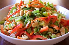 Cold Asian Cucumber Salad - The Aloha Files. This salad is perfect for those lingering hot days that pop up during the fall. Its a little tangy and a lot of refreshing! One bite and you'll want to eat it all! #vegan