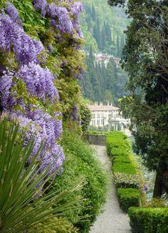 Villa Monastero Garden Varenna, Lake Maggiore, Italy, province of Lecco Lombardy