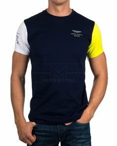 Camisetas Hackett Aston Martin - Azul Marino Multi Tee Polo Shirt Design, Polo Design, Cool Tees, Cool T Shirts, Tee Shirts, Smart Casual Polo Shirt, Design Kaos, Aston Martin, Printed Shirts