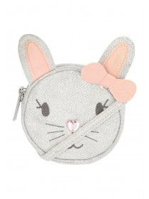 Younger Girls Silver Bunny Sparkle Bag