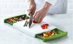 Chop away and clear up the mess with a hassle-free chop clear cutting board