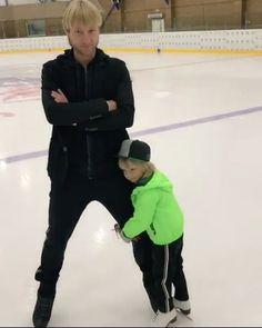Evgeni Plushenko(Russia) and his son