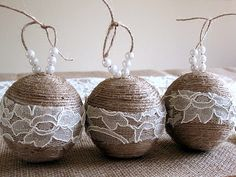 diy christmas ornaments, rustic