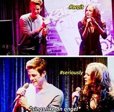 Grant Gustin sings like an angel!!! :)