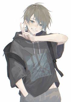 Oc Manga, Anime Oc, Dark Anime, Manga Boy, Cool Anime Guys, Handsome Anime Guys, Cute Anime Boy, Anime Boy Zeichnung, Anime Crying