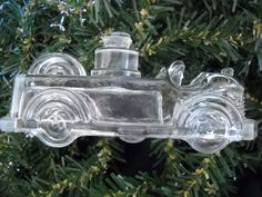 vintage glass candy container