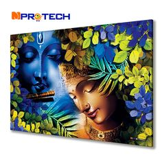 Best Radha krishna painting for living room Kerala Mural Painting, Indian Art Paintings, Modern Art Paintings, Artist Painting, Painting Tips, Lord Shiva Painting, Ganesha Painting, Buddha Painting, Buddha Kunst