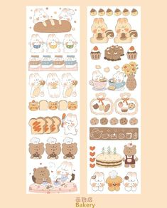 Kawaii Stickers, Cute Stickers, Sticker Shop, Sticker Design, Ideas Scrapbook, Korean Stickers, Anime Maid, Pen Pal Letters, Cute Journals