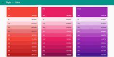 google material design colors