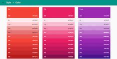 google material design colors