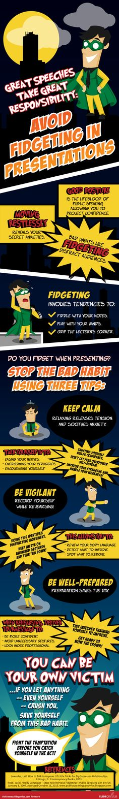 How Does Fidgeting Affect Your Professional Presentation? #Infographic #Business…