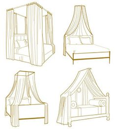 I love the daybed canopy