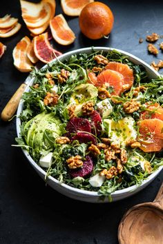 Citrus Avocado Salad with Orange Tahini Vinaigrette my go-to wintry salad.fresh easy and delicious. Enjoy for lunch as a light dinner or as a side! Easy Salads, Healthy Salads, Healthy Eating, Healthy Recipes, Savory Salads, Tofu Recipes, Baking Recipes, Easy Meals, Orange Salad