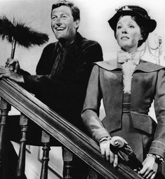 Dick Van Dyke and Julie Andrews in
