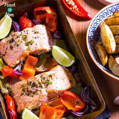 This Syn Free Chilli and Lime Baked Salmon is quick and easy. A perfect Slimming World friendly meal when you don't have time for too much prep. Serve with orzo based salad Slimming World Dinners, Slimming World Diet, Slimming World Recipes, Slimming Eats, Baked Salmon Recipes, Fish Recipes, Seafood Recipes, Healthy Eating Recipes, Dinner Ideas