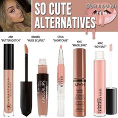 Kylie lip kit so cute dupes. I ll need to go and grab one! I love nude  lipsticks. Patricia Pickett · MakeUpLoVe 08bd0cd75