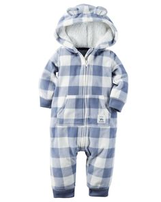 Hooded Fleece Jumpsuit from Carters.com. Shop clothing & accessories from a…
