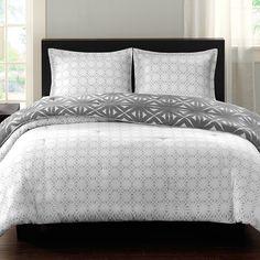echo design Lattice Geo Reversible Comforter Set & Reviews   Wayfair
