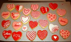 Valentine's Day Cookies from last year.