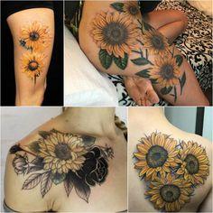 Sunflower Tattoo for Women - Sunflower Tattoo for Girls - Sunflower Tattoo Ideas - Sunflower Tattoo Meaning - Sunflower Tattoo Designs Sunflower Tattoo Meaning, Sunflower Tattoo Simple, Sunflower Tattoo Sleeve, Sunflower Tattoo Shoulder, Sunflower Tattoos, Sunflower Tattoo Design, Watercolor Sunflower Tattoo, White Sunflower, Watercolor Tattoos