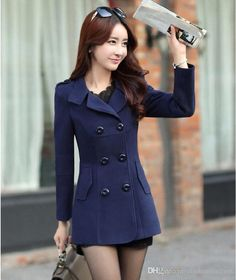 Wholesale cheap women coat online, No   - Find best  2015 Fall Winter Women's Double-breasted Button Lapel Pocket Multicolor Big Yards Long Sleeves Mother Wool Coat Ladies Winter Coat OXL082205 at discount prices from Chinese Wool & Blends supplier - cinderelladress on DHgate.com. African Prom Dresses, Prom Dresses 2017, Winter Coats Women, Coats For Women, Clothes For Women, Sweater Design, Military Fashion, Wool Coat, Custom Clothes