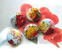 Handmade Fabric buttons.