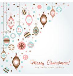Beautiful design christmas greeting card vector